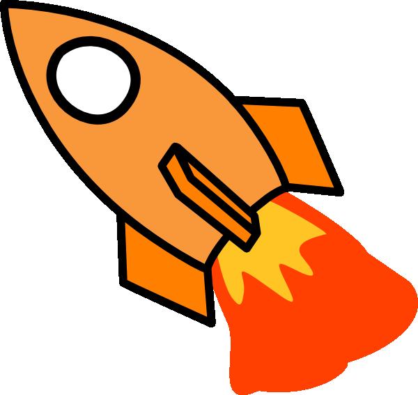 Clipart rocket orange rocket. Clip art at clker
