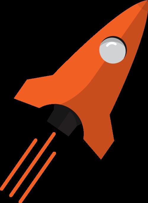 Clipart rocket orange rocket. Digital marketing ipswich seo