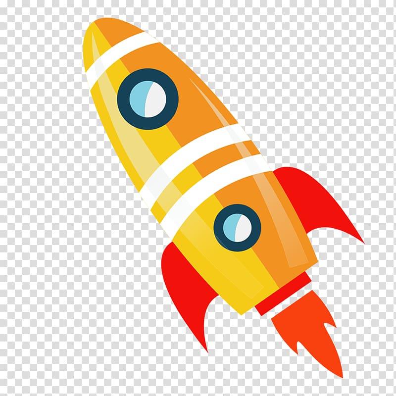 Flight launch transparent background. Clipart rocket orange rocket