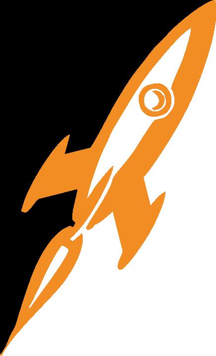 Clipart rocket orange rocket. Transparent png pictures free