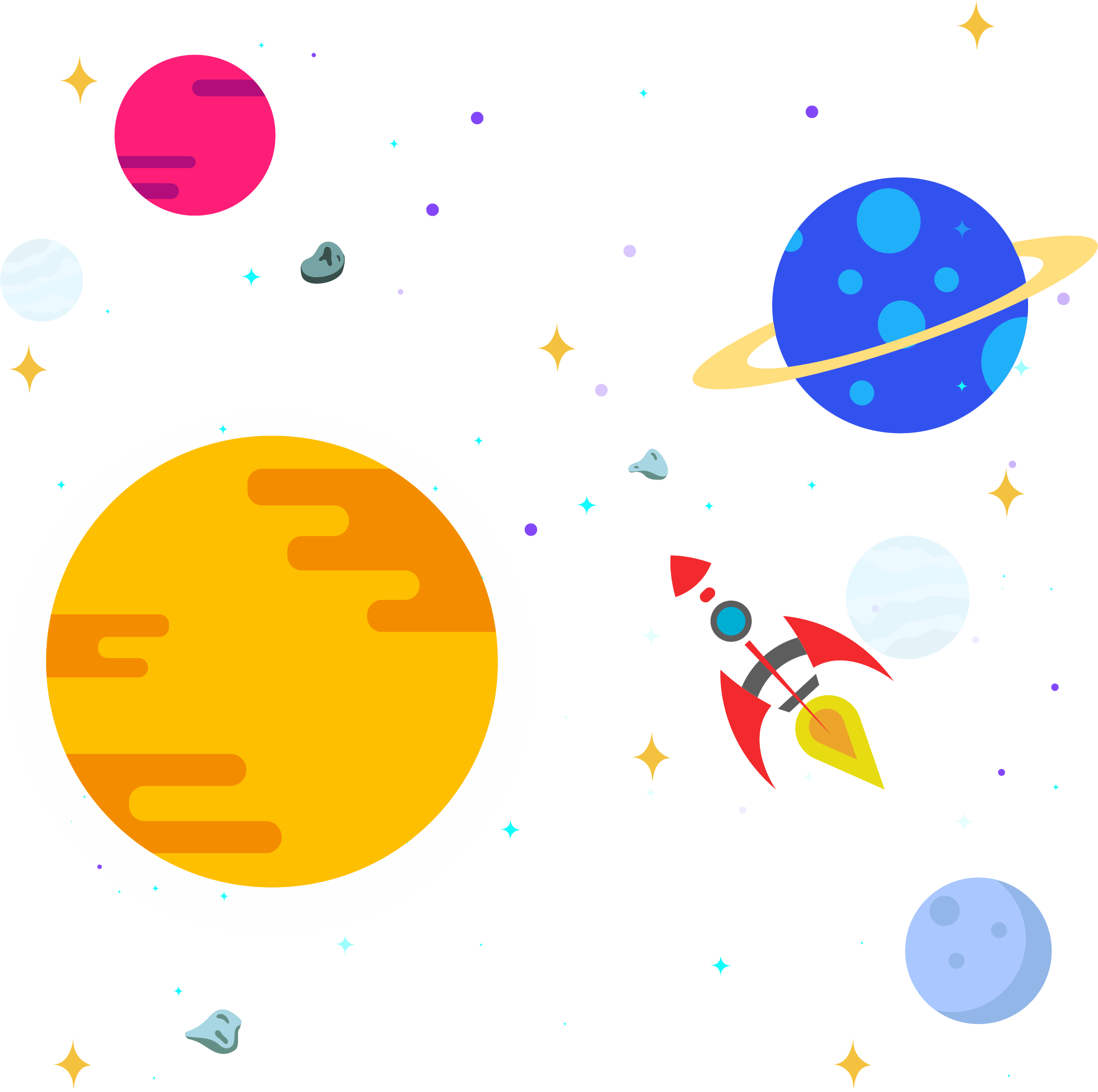 Clipart rocket outer space. Solar system clip art