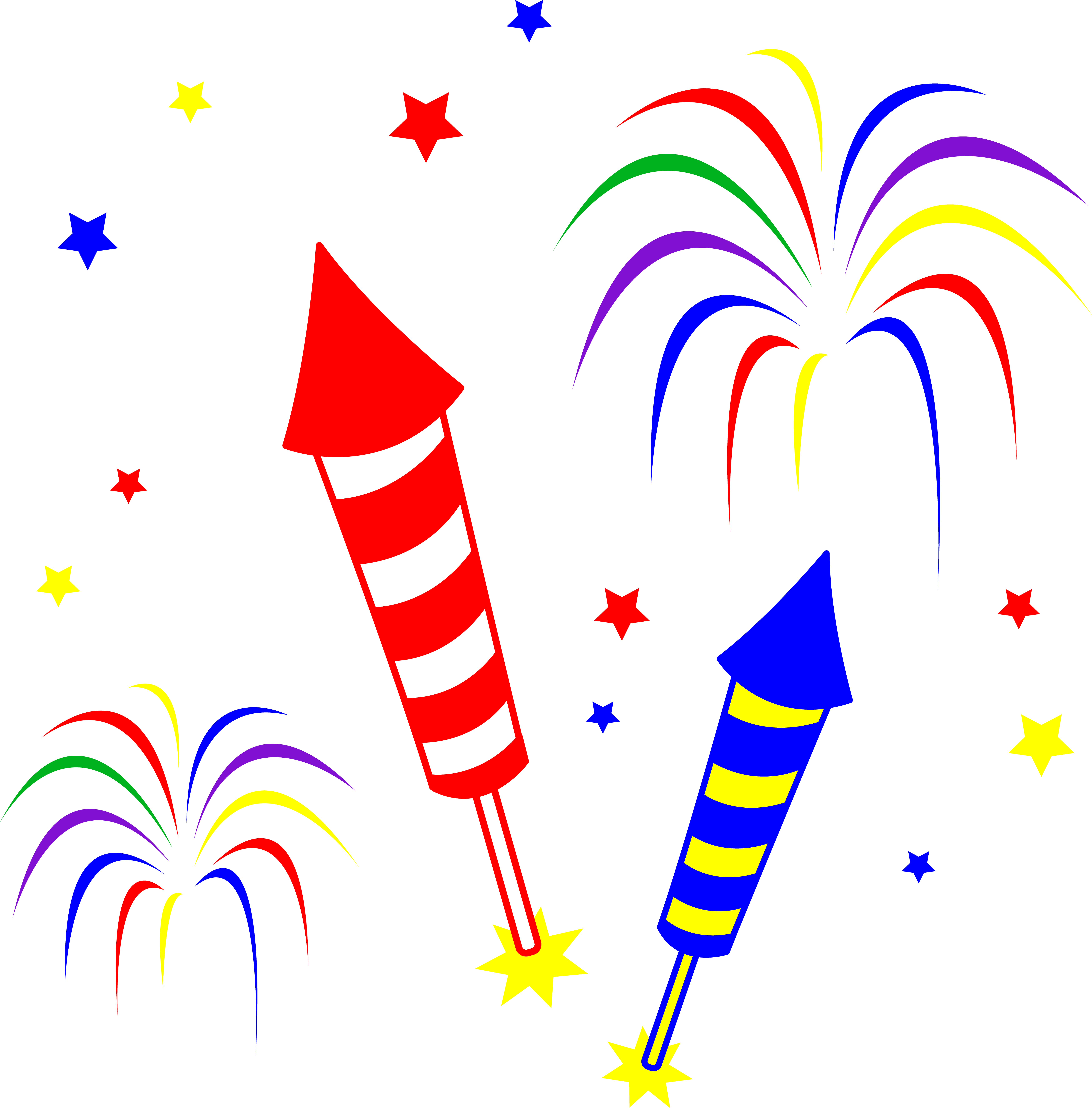 Rocket animated pencil and. Firecracker clipart sparkler
