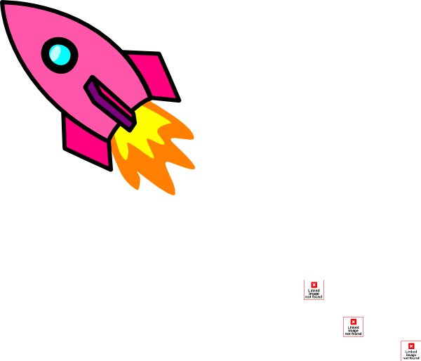 Clip art at clker. Clipart rocket pink rocket