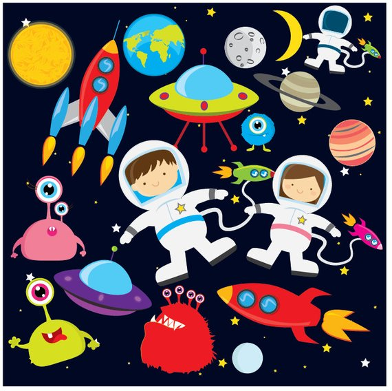 Space astronaut clip art. Planets clipart spaceship
