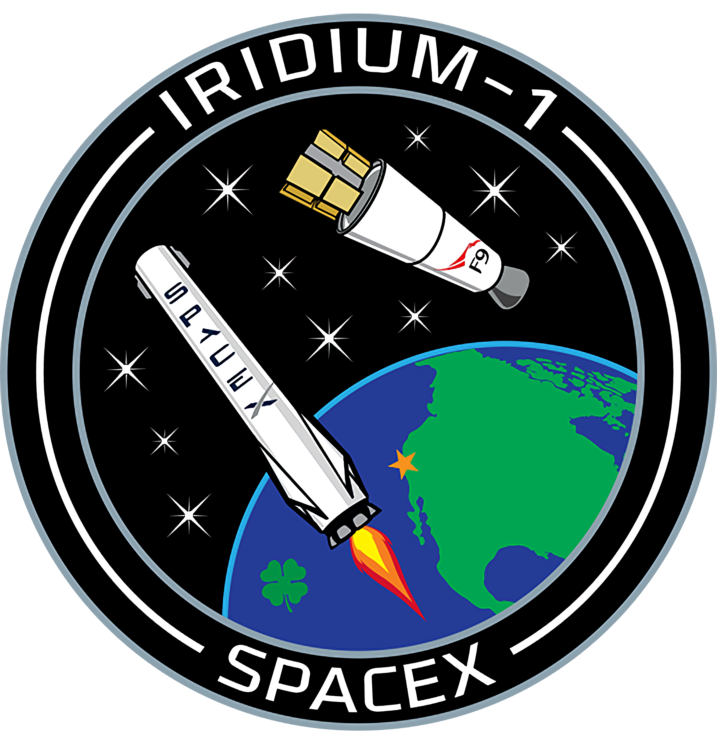 Iridium patch spacex interpolated. Missions clipart space flight