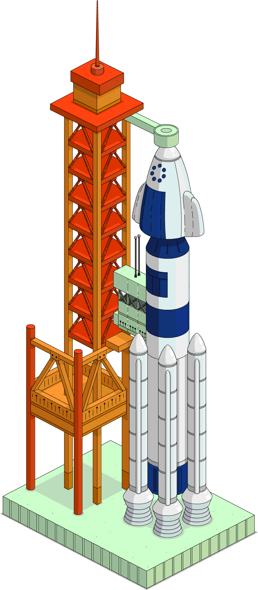 Launch pad the simpsons. Clipart rocket popsicle