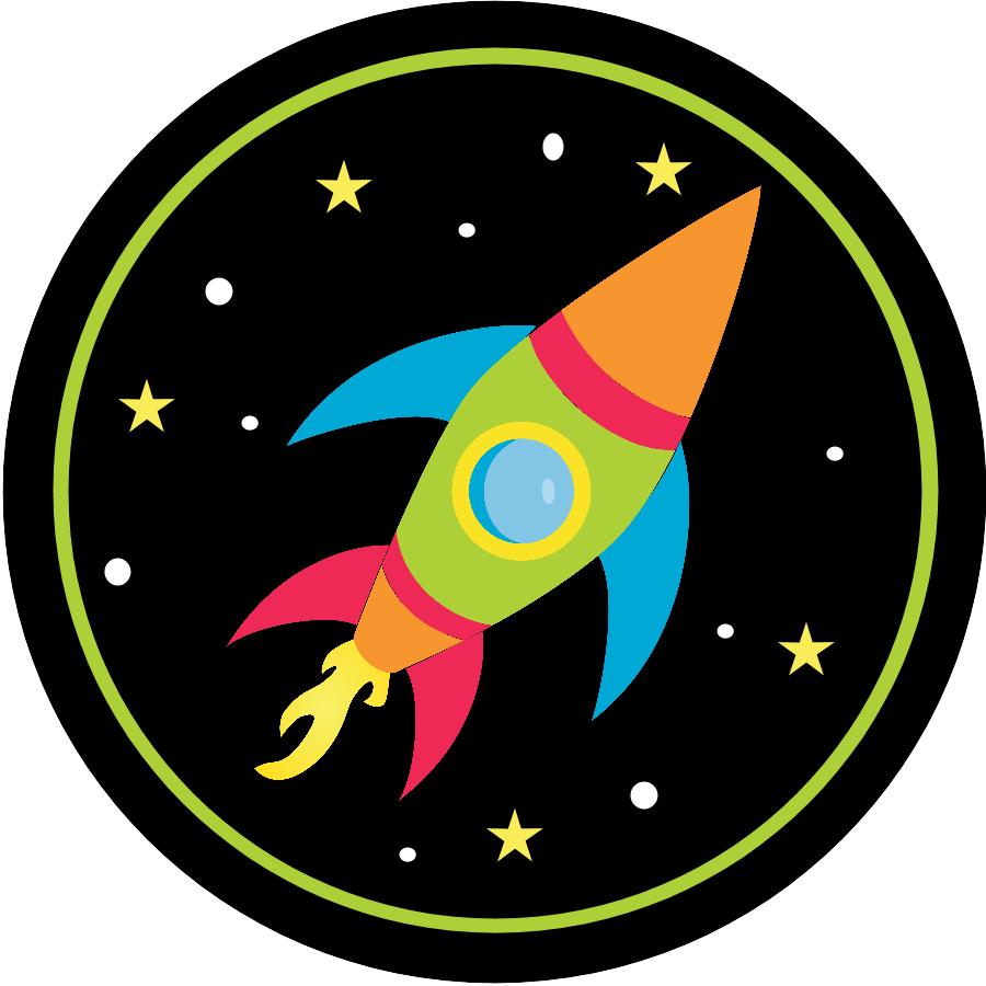 Space birthday party invitations. Clipart rocket printable