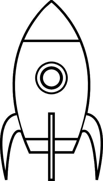Clipart rocket printable. Ship stencil best to