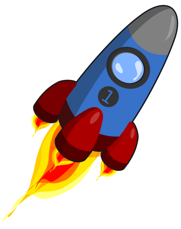 collection of ship. Clipart rocket realistic