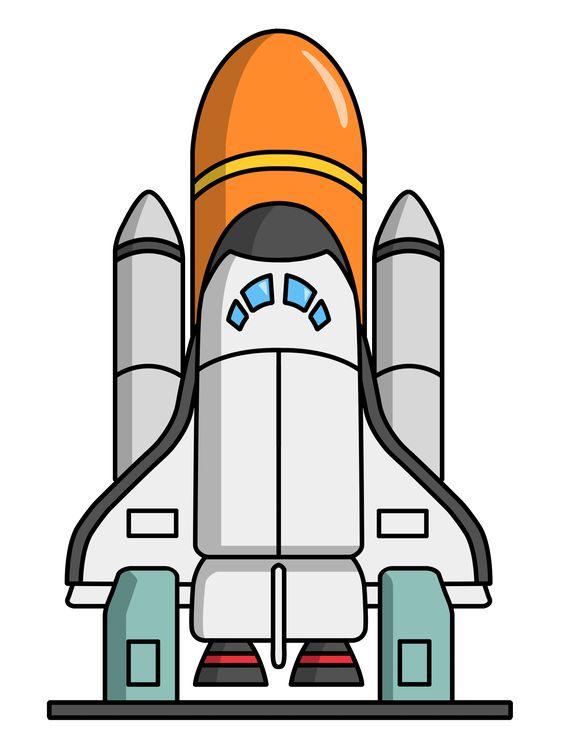Rocketship clip art ships. Clipart rocket realistic