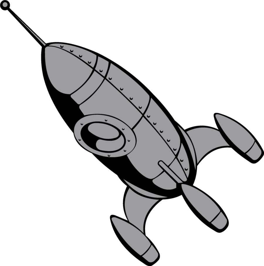 Vintage by chinelinho on. Clipart rocket retro rocket