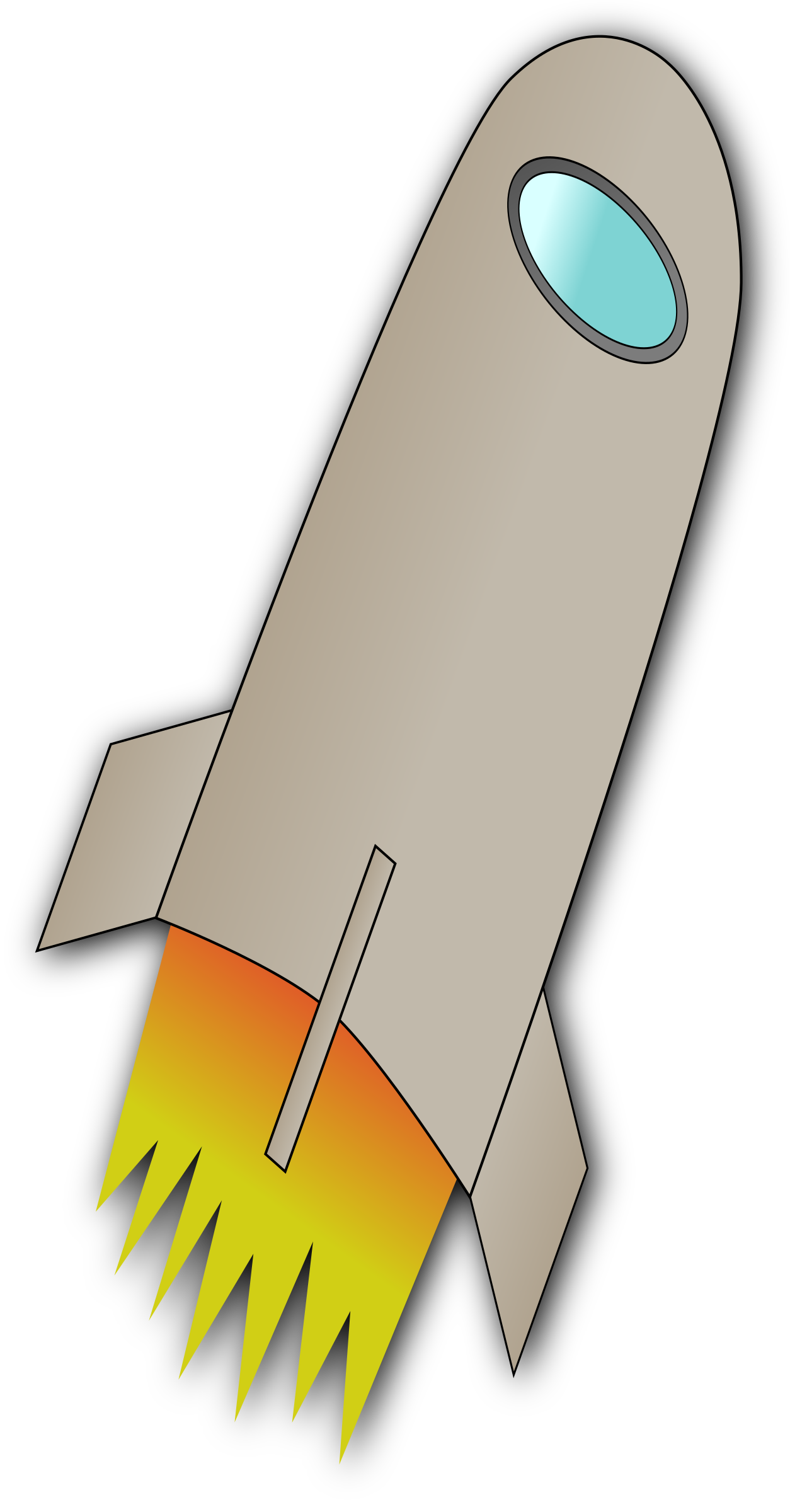 Space rocket whit fire. Spaceship clipart spacerocket