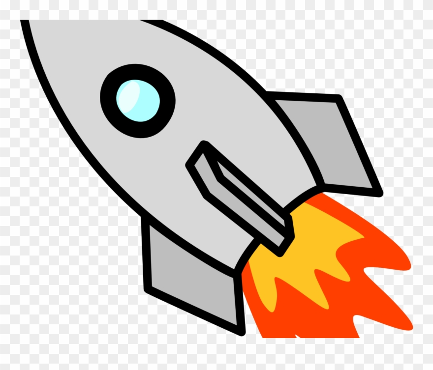 Spaceship clipart fire. Flames rocket ship launch