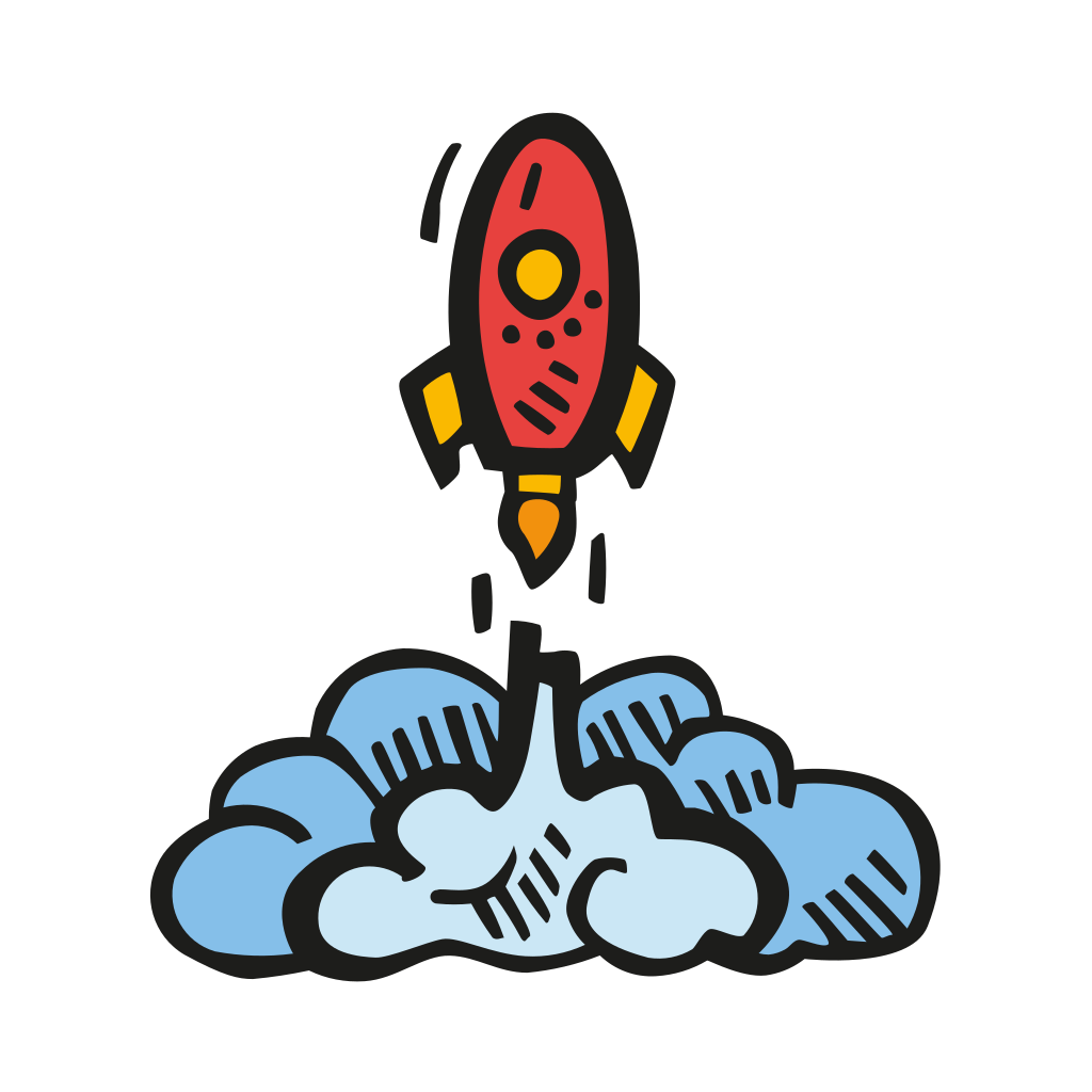 Spaceship clipart ico. Rocket launch icon free