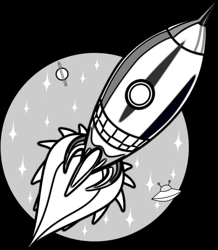 Clipart rocket rocket math. Free images black and