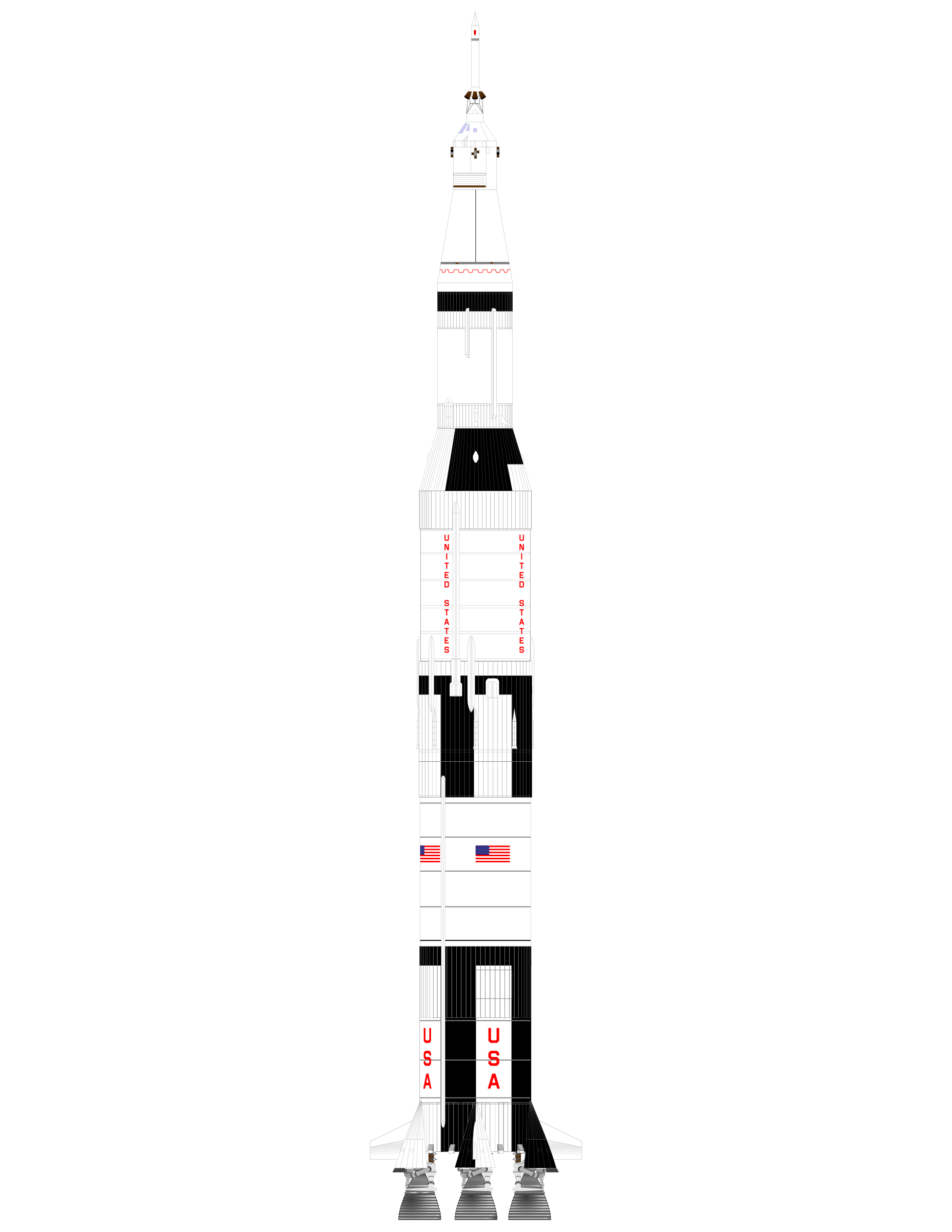 Rocket saturn v big. Spaceship clipart apollo spacecraft