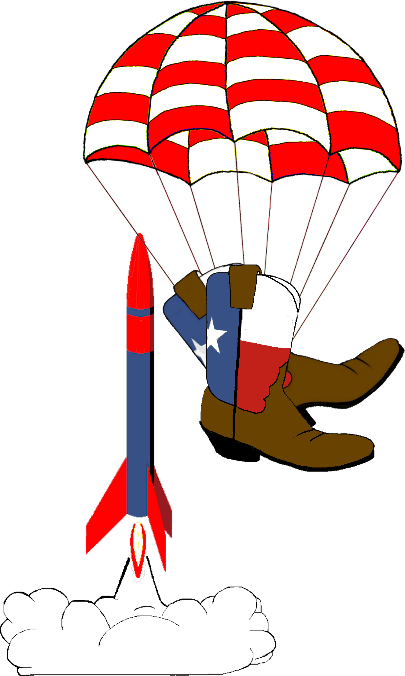Boots chutes model assn. Clipart rocket rocketry