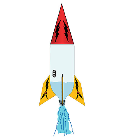 Water rockets . Clipart rocket rocketry