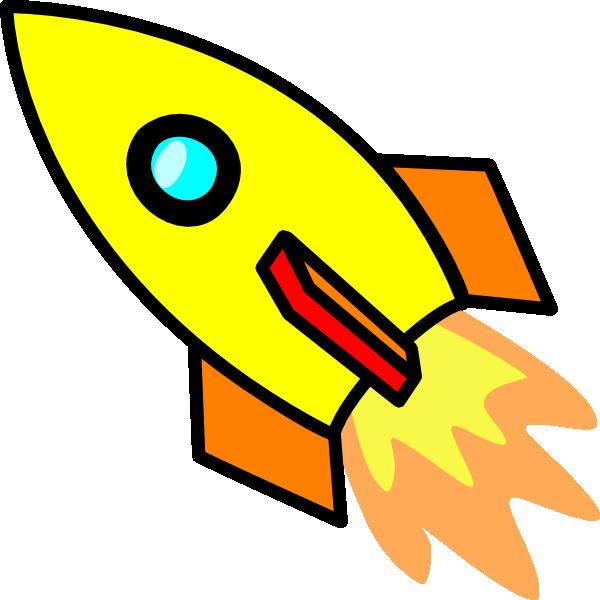 Yellow clip art at. Clipart rocket royalty free