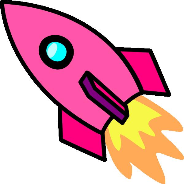 Spaceship clipart bmp. Pink rocket clip art