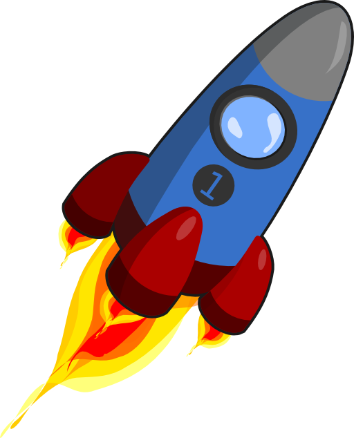 Clipart rocket royalty free. Blue and red i