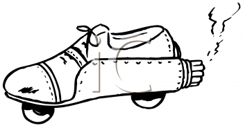 Royalty free image of. Clipart rocket shoe