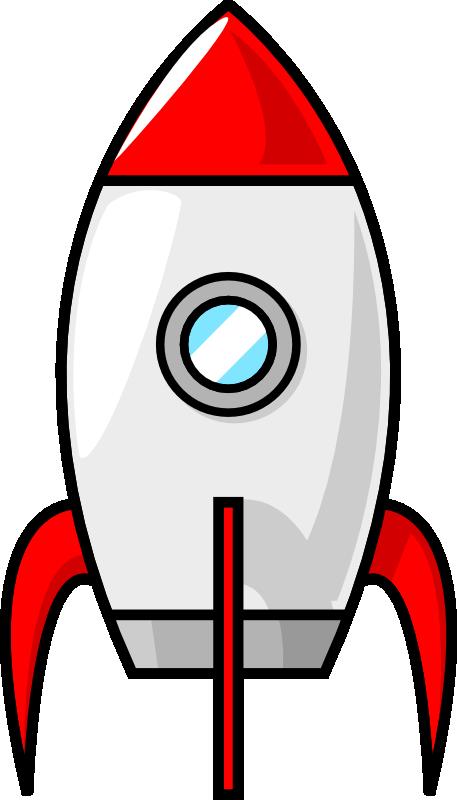 A cartoon moon by. Clipart rocket simple rocket