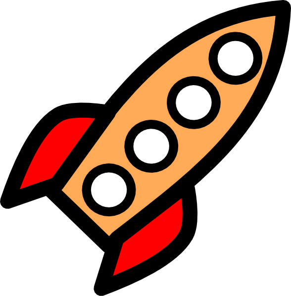 Spaceship clipart cool spaceship. Four window rocket clip