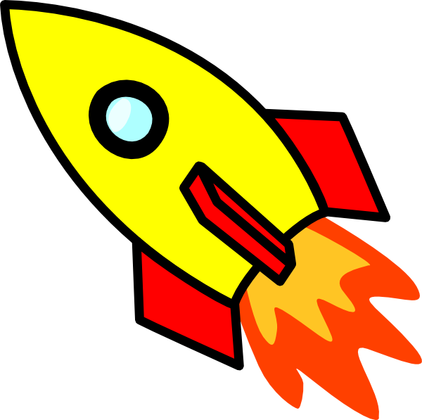 Spaceship clipart fire. Rocket ship vector and
