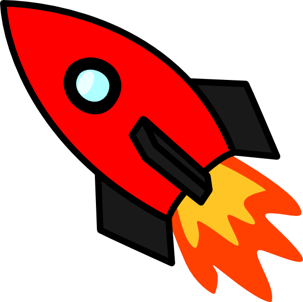 Red clip art at. Clipart rocket small