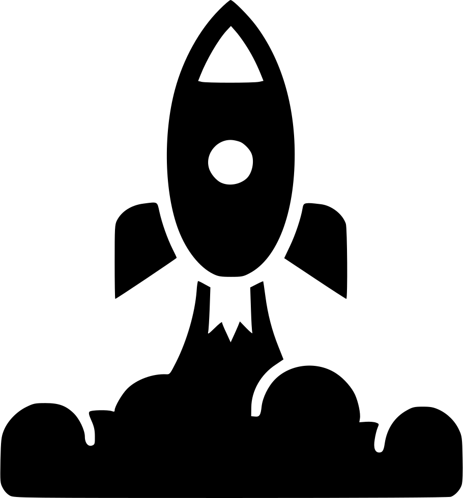 Launch svg png icon. Clipart rocket smoke