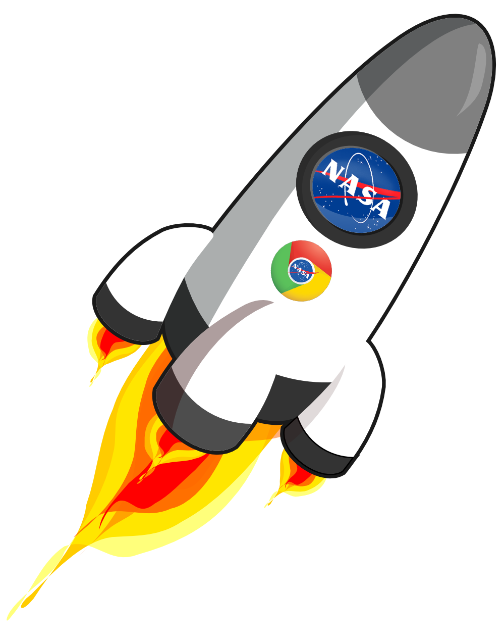Ultron browser . Clipart rocket space craft