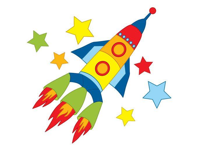 Clipart rocket space shuttle. Digital vector