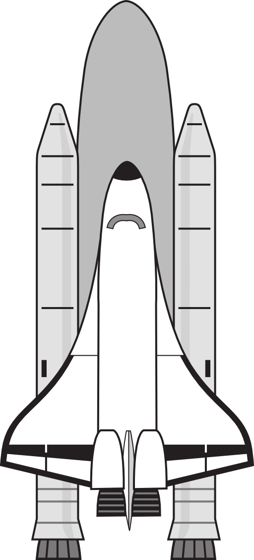 Clipart rocket space shuttle. Nasa clip art library