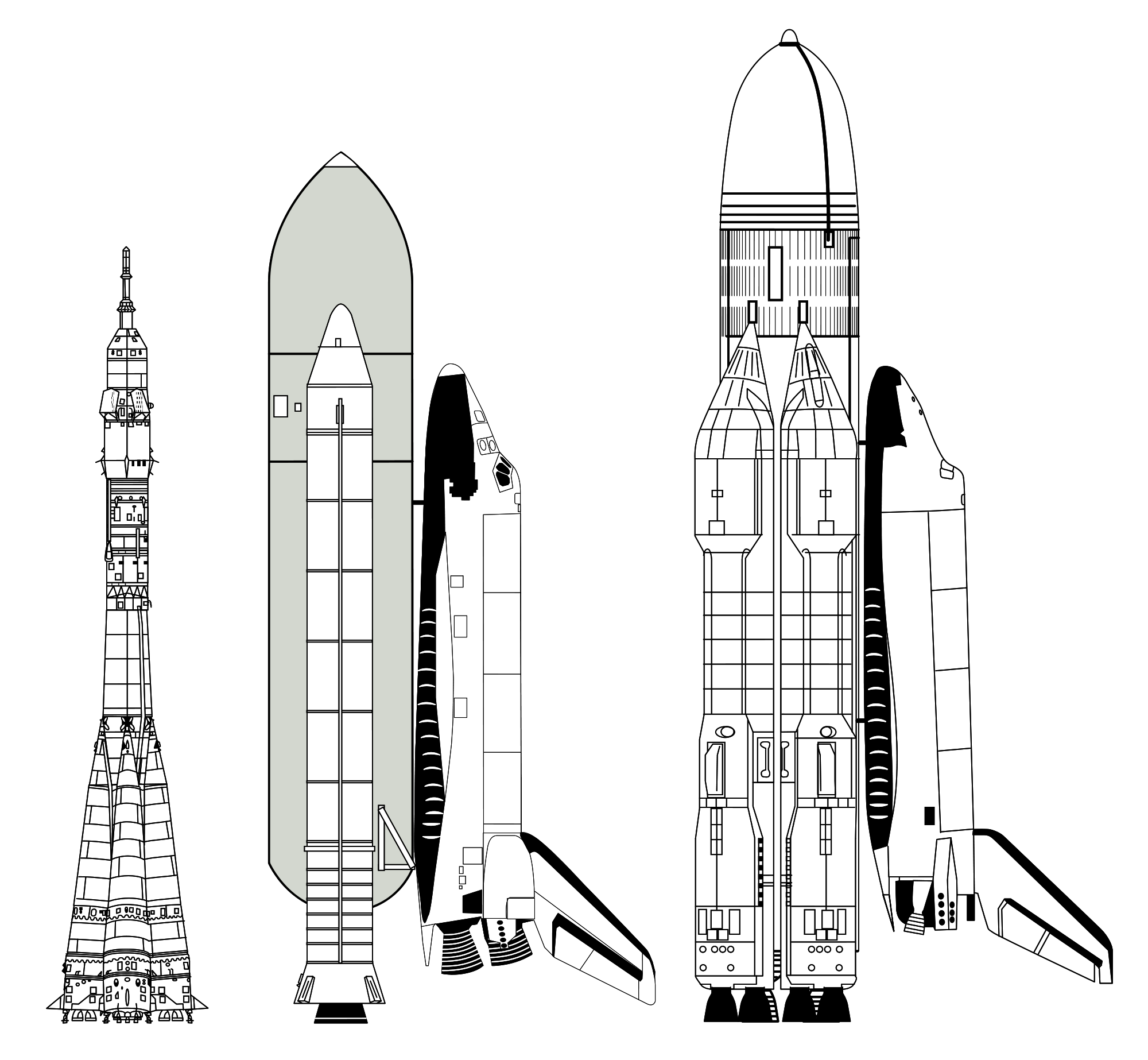Soyuz launch vehicle the. Clipart rocket space transportation