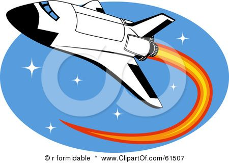 Shuttle clip art panda. Clipart rocket space transportation
