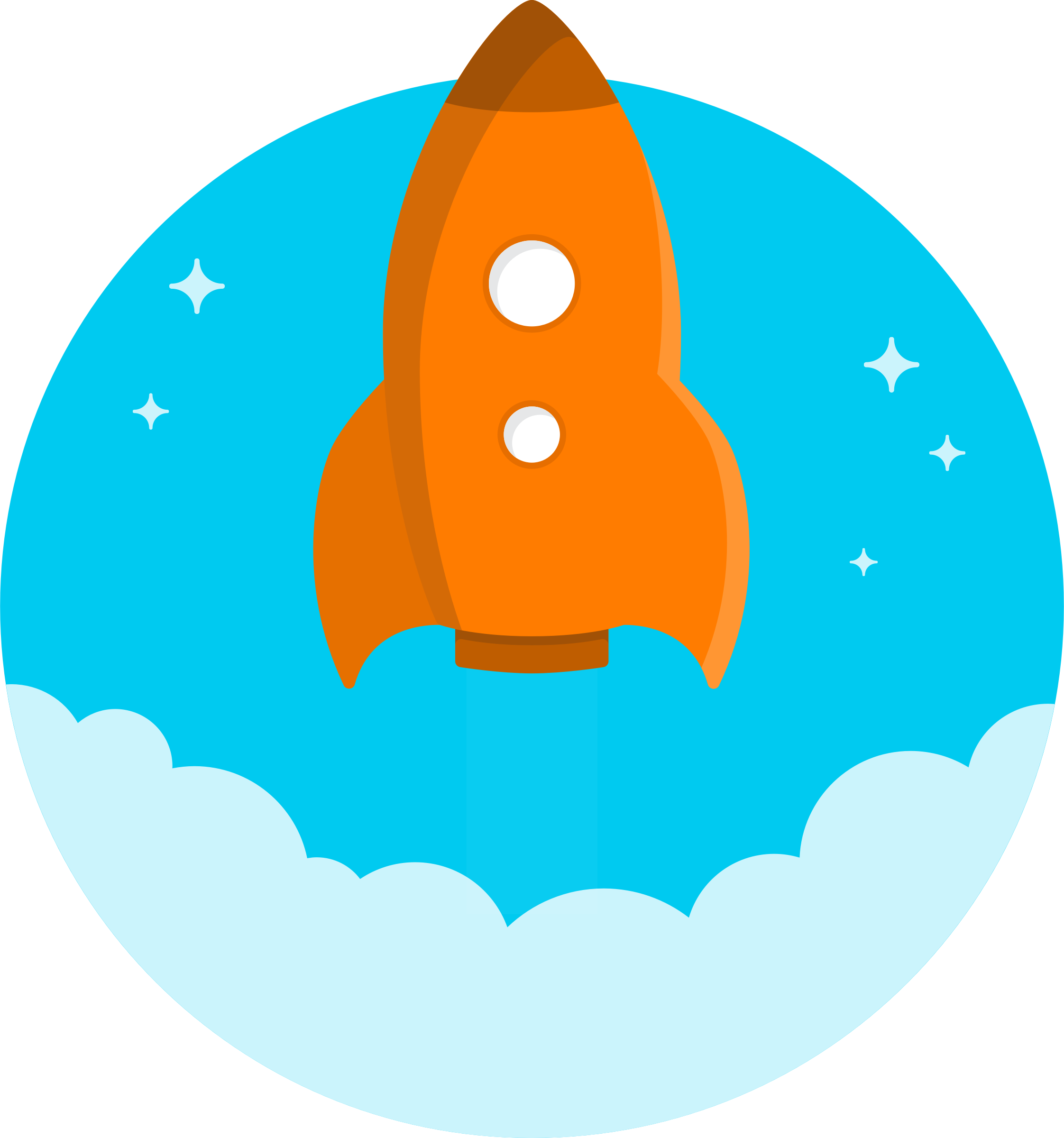 Space Rockets Clipart