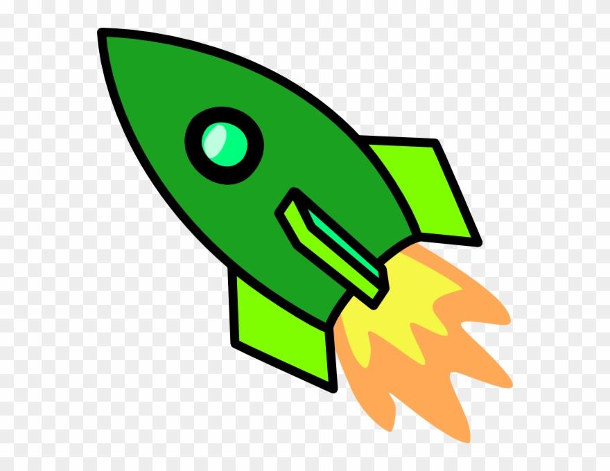 Clipart rocket spaceship. Clip art ship green