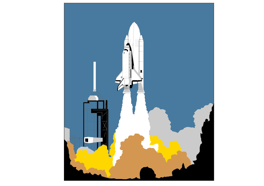 Launch pad space clip. Clipart rocket takeoff
