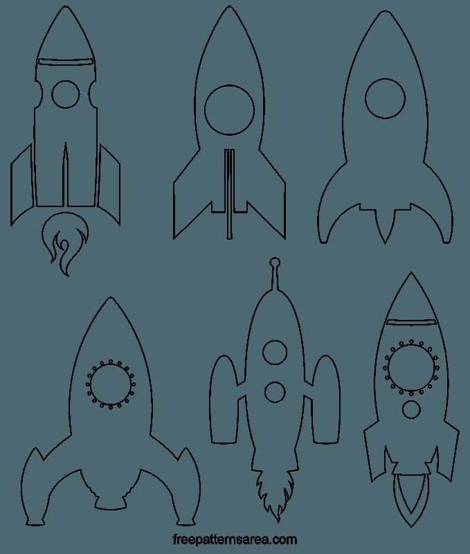 Clipart rocket template. Spaceship vector freepatternsarea