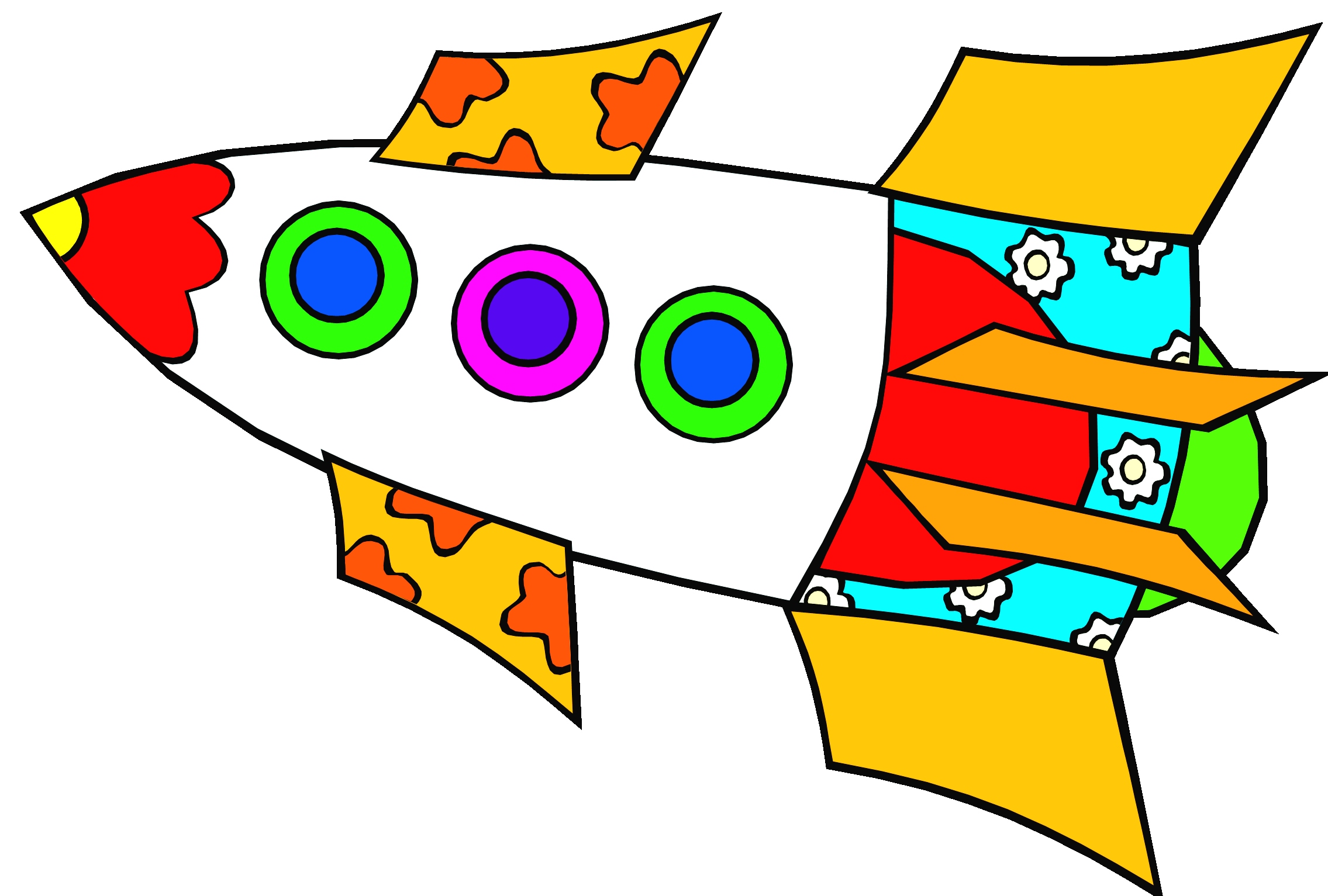 Guaranteed pictures of rockets. Clipart rocket template