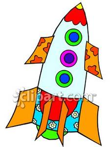 A royalty free picture. Clipart rocket toy