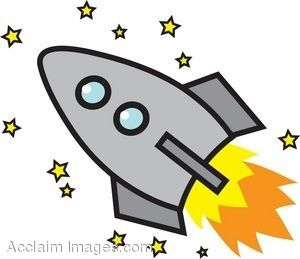 Cartoon with stars clip. Clipart rocket toy story