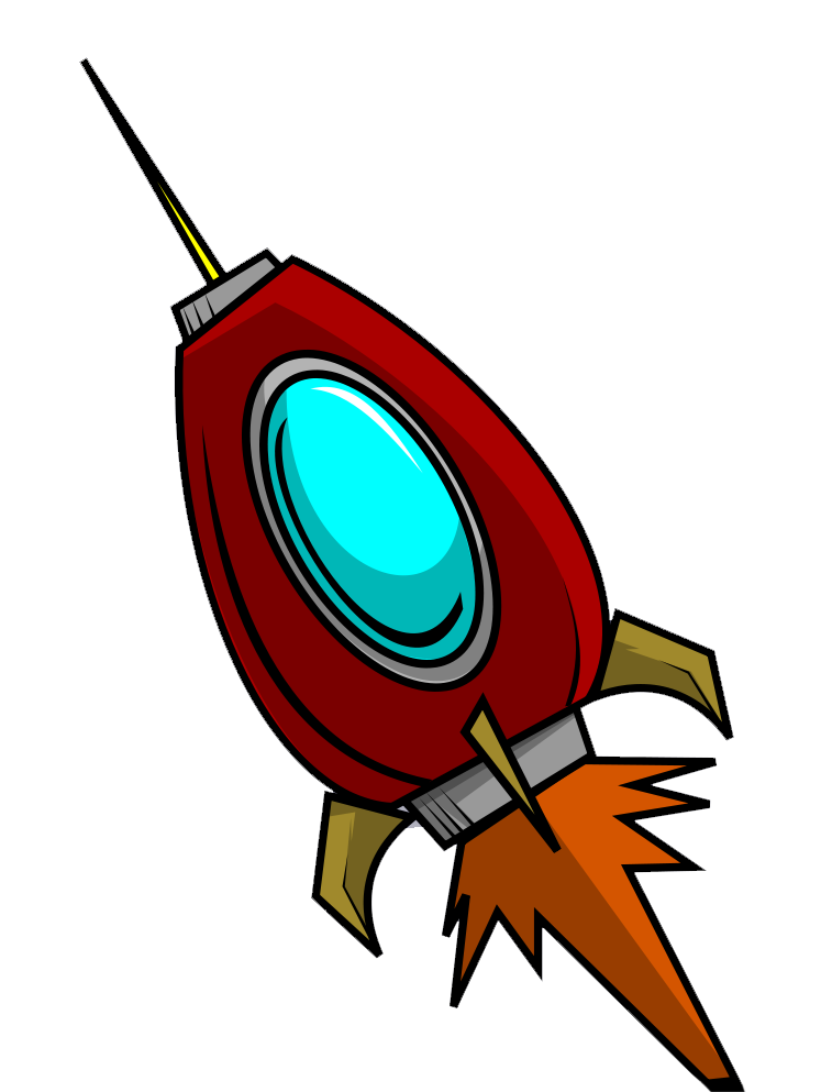 Rocket free to use. Spaceship clipart red
