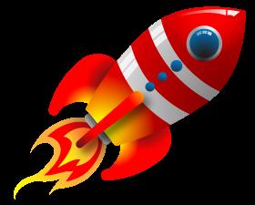 Free vintage spaceship cliparts. Clipart rocket vector