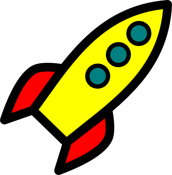 Rocket clip art at. Spaceship clipart missile launch