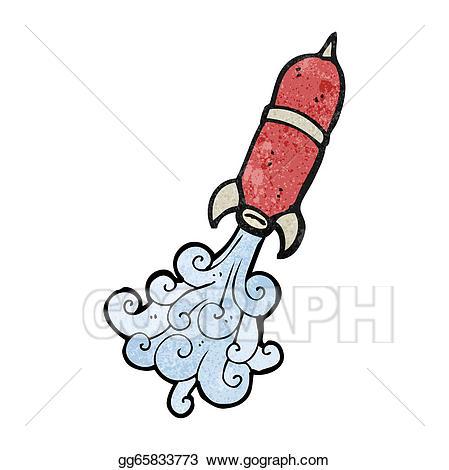 Vector illustration cartoon eps. Clipart rocket water rocket