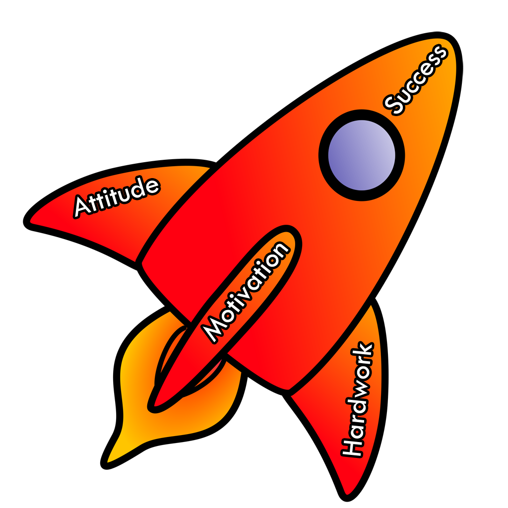 Clipart rocket window. App for motivational quotes