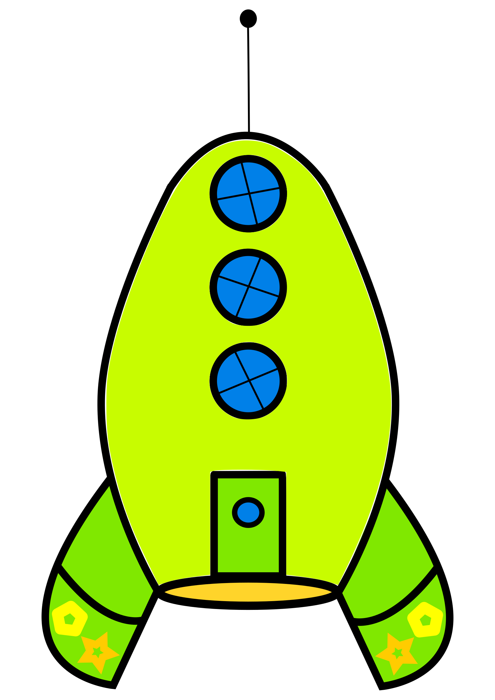 Clipart rocket yellow rocket. Green big image png