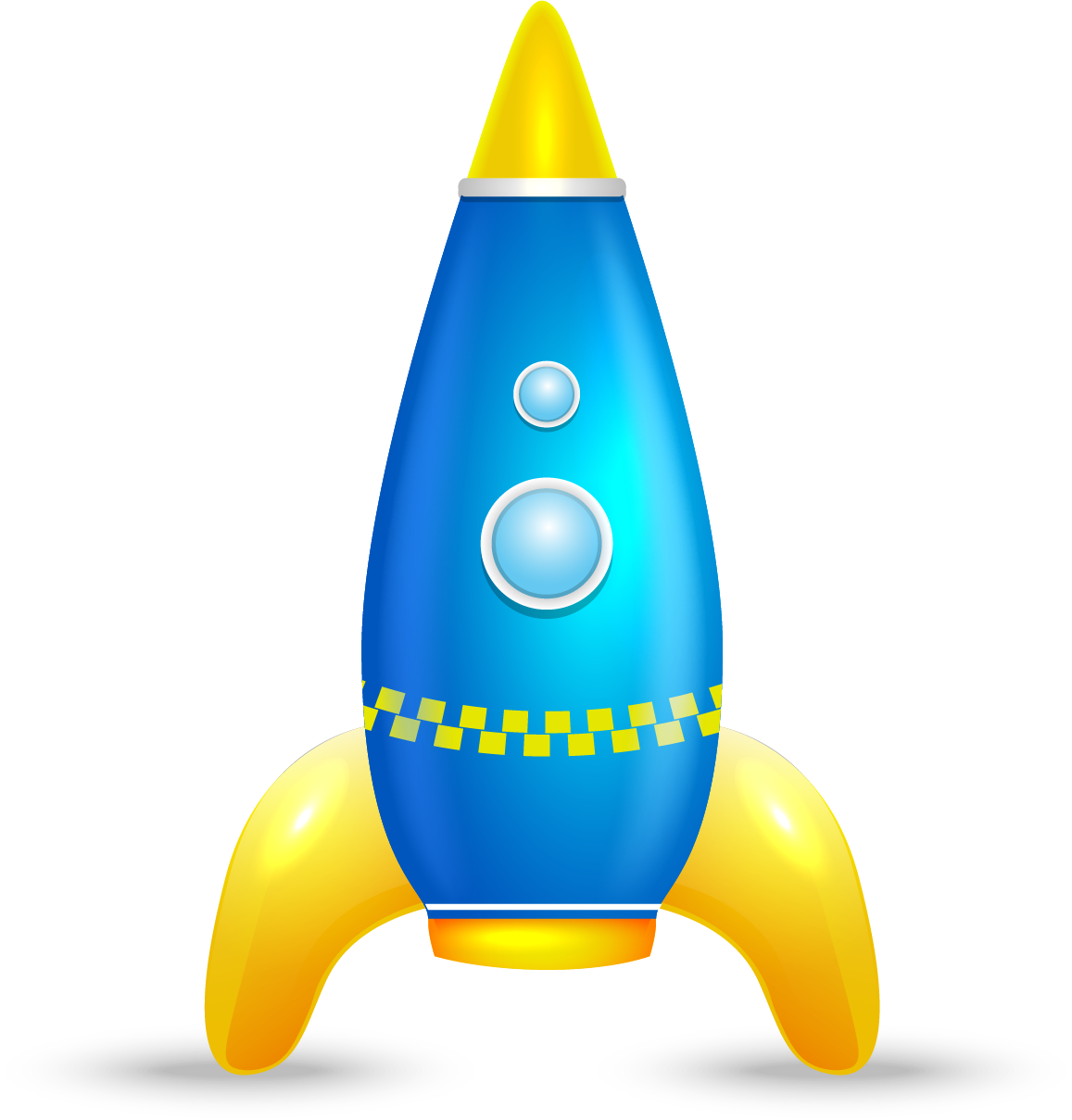 Toy clip art cartoon. Clipart rocket yellow rocket